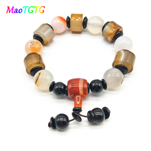 Creative Natural Agates Bracelet  For Men Hand Jewelry Yoga Friends Bracelets Top Quality Gifts
