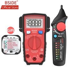 BSIDE AVD06X Бесконтактный детектор напряжения переменного тока 12-1000 В тестер цепи тестовая ручка разъем питания живой провод проверка двойной режим с 8 светодиодами