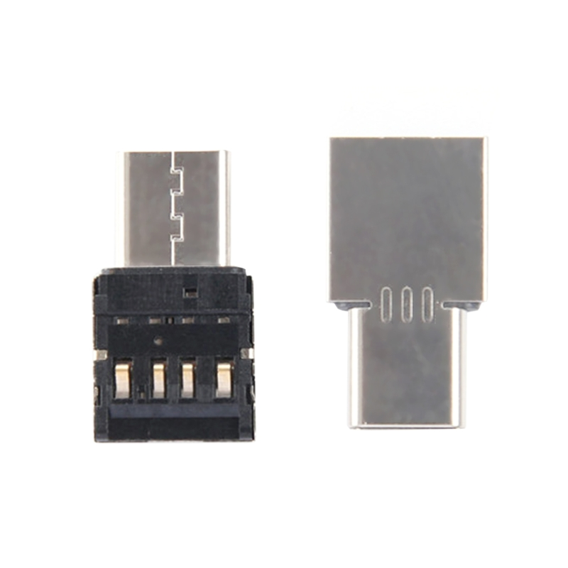 18(L)x10(W)mm Silver Type C To USB OTG Connector Adapter For USB Flash Drive S8 Note8 Android Phone