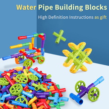 DIY Water Pipe Building Blocks Toys Enlightening Pipeline Tunnel Learning Toys For Children Compatible With LegoED Duploed Brick attack of the morro dragon 70736 building blocks model toys for children bela 10400 compatible legoed ninja brick set