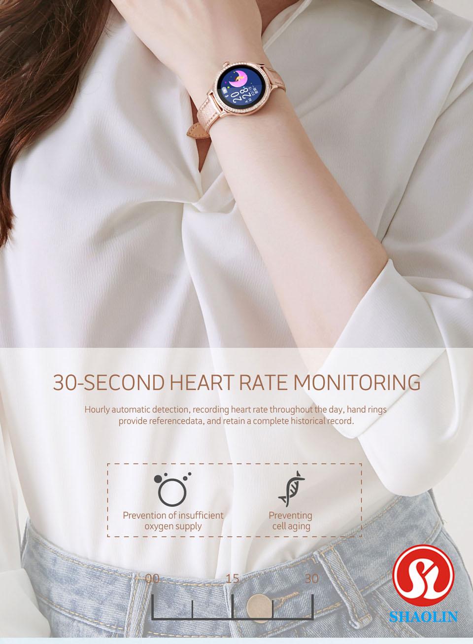 água mulher smartwatch lembrete menstrual monitor de