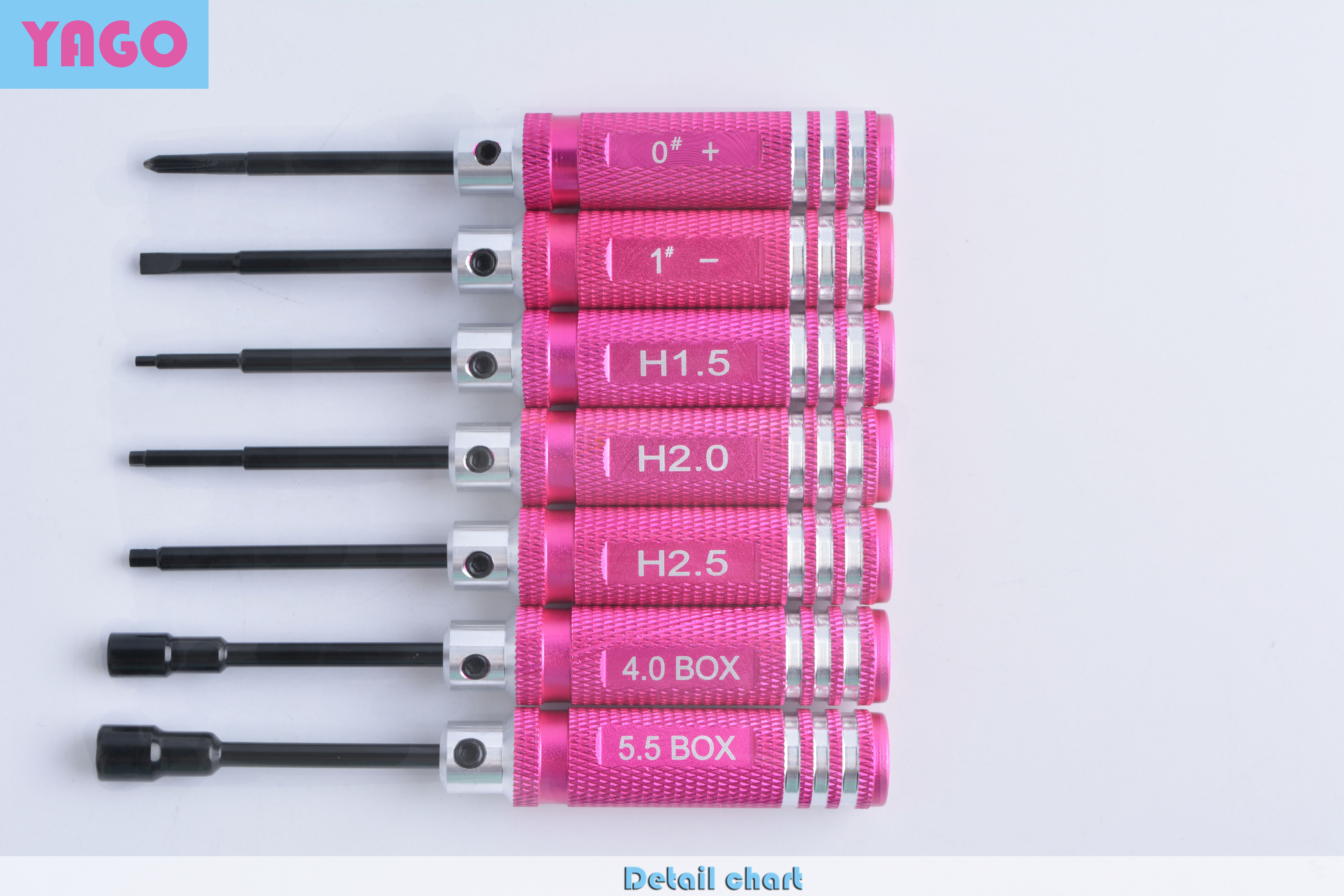 7pcs set RC Tools hex screw driver set titanium plating hardened 1 5 2 0 2 5 3 0mm screwdriver For RC helicopter tools in Tool Parts from Tools