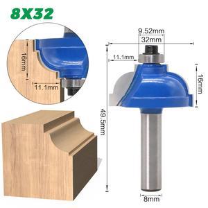 Image 3 - Fresa escariadora recta para enrutador de madera, vástago de 8mm, para limpieza, embellecedor empotrado, esquina, caja redonda, brocas, herramientas de fresado, 1 Uds.