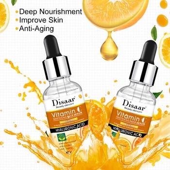 Vitamin C Facial Serum Anti Wrinkle Aging Essence Skin Whitening Freckle Creams Moisturizing Face Care Hyaluronic Acid Cream 1