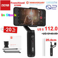 Zhiyun Smooth Q2 Portable Pocket Size 3-Axis Smartphone Handheld Gimbal for iPhone 11 Pro Max XS X Samsung S10 S9 & Mobile Phone