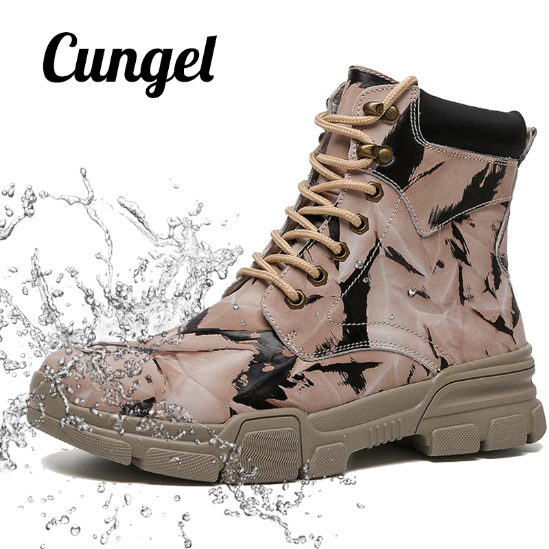 Snow Boots Men Tactical Boots Winter Snow Boot Hiking Women Waterproof Mountain Shoes Trekking Goretex Shoes Military Size 35-47