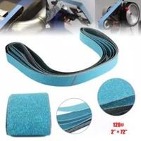 7pcs 2 *72 Inch 120/80/60/40 Grit Zirconia Sanding Belts Metal Grinding Polishing Sander grinding high quality new