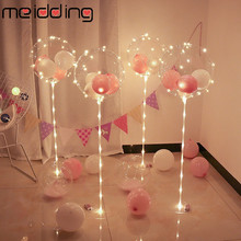 MEIDDING Birthday Party Plastic Balloons Stand  Decoration Transparent Balloon Sticks Surprise Wedding Child Festival Supplies