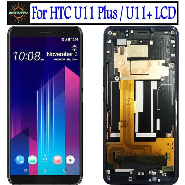 """6.0 """"für HTC U11 Plus LCD Display Touchscreen Digitizer U11 + LCD Mit rahmen Für HTC U11 plus Display Ersatz Teile"""