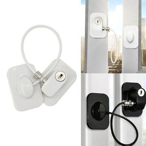 1 Key Window Lock Baby Safety Easy Install Cabinet Refrigerator Door Non Drilling Freezer Restrictor Self Adhesive Home Children