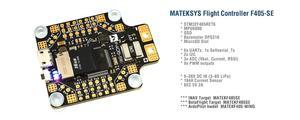 Image 1 - Matek מערכות BetaFlight F405 SE טיסה בקר מובנה PDB OSD 5V/2A BEC הנוכחי חיישן עבור RC multicopter F405 CTR עדכון