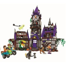 In stock Scooby Doo Mystery Mansion Building Blocks Scoobydoo Shaggy Velma Vampire 3D Kids Toy Gifts Compatible with Lepining