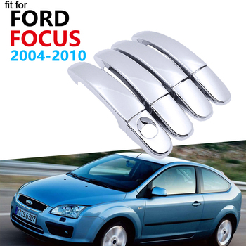 Luxurious Chrome Handle Cover Trim Set for Ford Focus 2 MK2 MK2.5 2004~2010 Accessories Car Stickers 2005 2006 2007 2008 2009 image