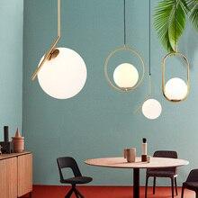 Ins vent personnalité pendentif lumières unique tête anneau pour chambre chevet salle à manger barre porche luminaire suspension lampe