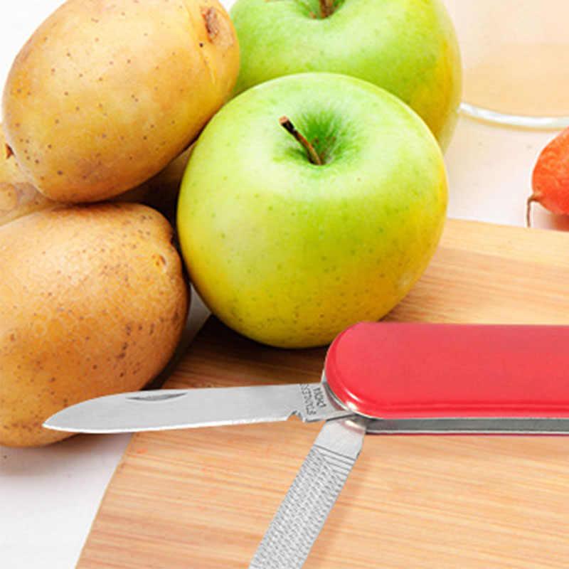 高品質ステンレス鋼多機能色屋外折りたたみナイフはさみファイルピンセット果物ナイフ
