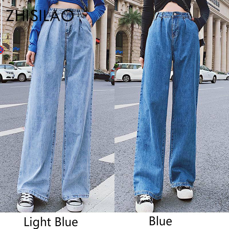 Vintage Straight Jeans Women High Waist Wide Leg Boyfriends Jeans Plus Size Mom Street Denim Jeans Mujer Retro Chic Kpop