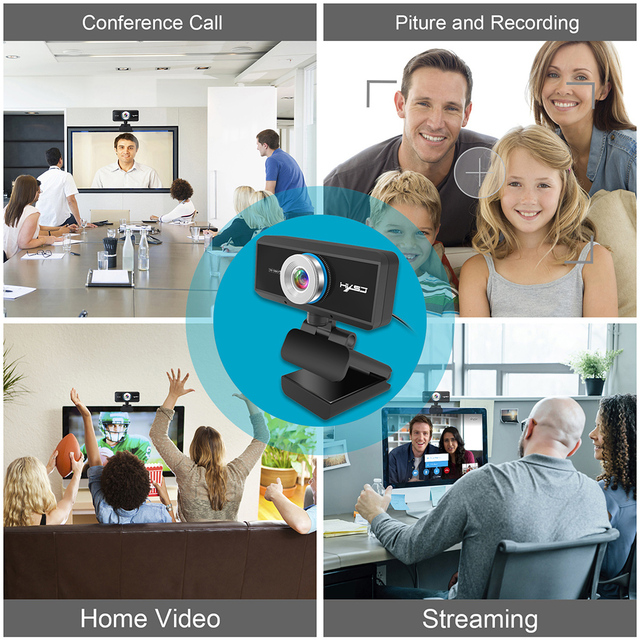 Webcam 1080P 30FPS Full HD Streaming Video Anchor USB Web Camera Built-in Stereo Microphone With Tripod for PC Computer 6