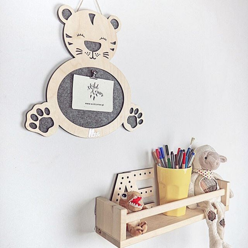 Nordic Style Wood Felt Wall Storage Box Wall Hanging Decorative Storage Box Unique Cute Decoration Room Decoration in Storage Boxes Bins from Home Garden