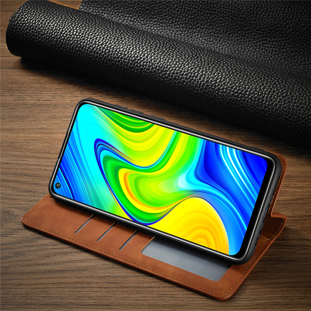 Leather Flip Case For Xiaomi Poco X3 M3 F3 11i 10T Lite Redmi Note 10 9 S 9A 9C 9T  8 7 Pro Max Wallet Cards Stand Phone Cover 5