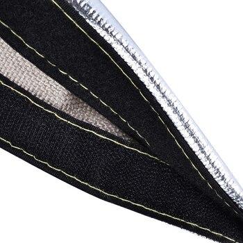 Envoltura de manguera, funda protectora de calor, tubo telar aislado térmico metálico, protector de 1 uds, repuesto para coche automotriz