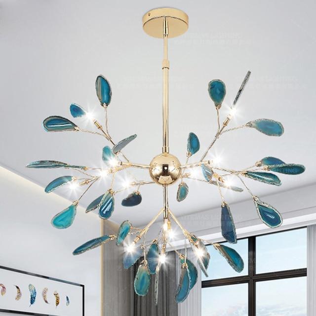 ĐÈN LED hiện đại ăn đèn chùm ánh sáng vàng treo Đèn xanh dương Đèn chùm trong trẻ em phòng bếp tiền sảnh phòng khách phòng ngủ trang trí đèn
