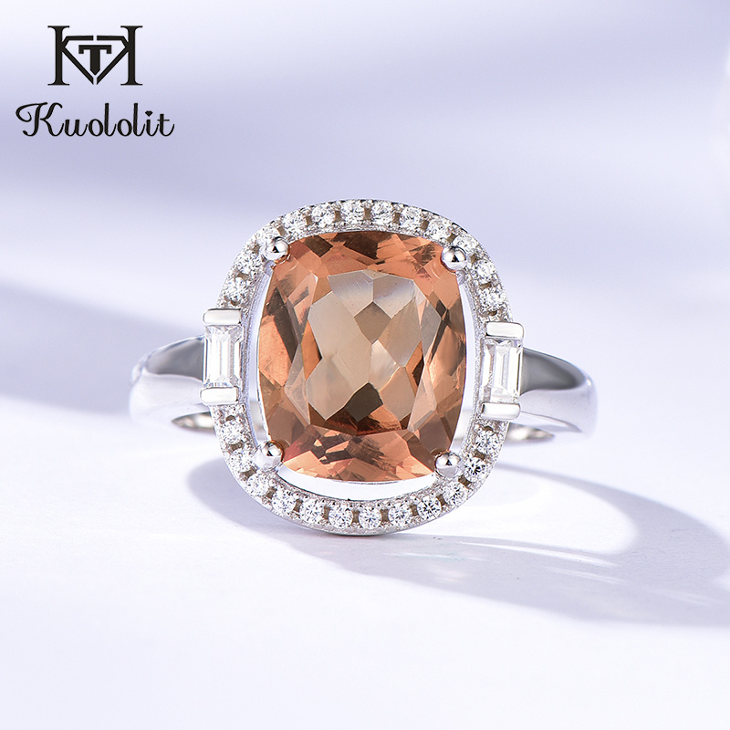 Kuololit Zultanite Gemstone Rings for Women Solid 925 Sterling Silver Color Change Diaspore Sultanite Bride Gifts Fine JewelryRings   -