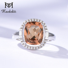 Kuololit Zultanite Gemstone Rings for Women Solid 925 Sterling Silver Color Change Diaspore Sultanite Bride Gifts Fine Jewelry