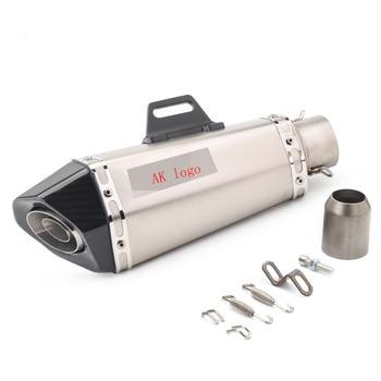 universal motorcycle conical carbon fiber exhaust pipe with DB killer for mt 07 mt 09 z800 z900 r6 er6n mt07 mt09  gsr750 gsxr75