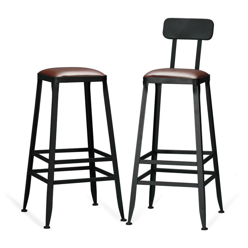 Nordic Solid Wood Long Table Coffee Bar Against Wall High Stool Bar Table Iron Restaurant Bar Table Table Chair Combination