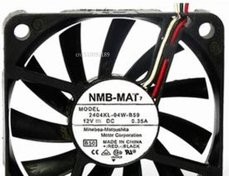 For Original NMB 6010 2404KL-04W-B59 12V 60*60*10mm 0.35A 6CM Three Wire Speed Version Of The Fan Free Shipping