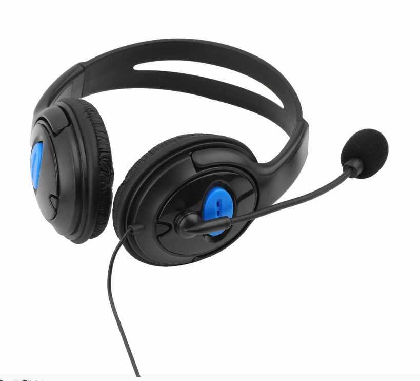 Headphone gamer com microfone, fone de ouvido com fio 3.5mm para jogos e controle de volume de ps4 play station 4 x caixa um pc