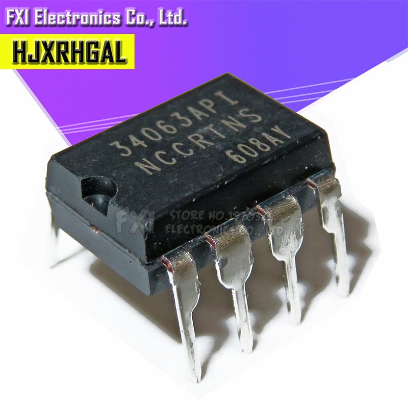 10PCS MC34063API DIP8 MC34063AP1 DIP MC34063 34063API New Original