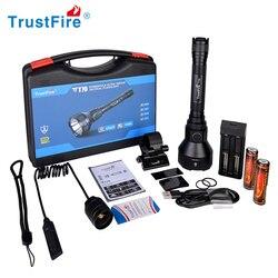 TrustFire T70 linterna Set Sit XHP-35HI 2300 lúmenes rango 1000mIPX8 aluminio impermeable linterna 18650 batería con cargador