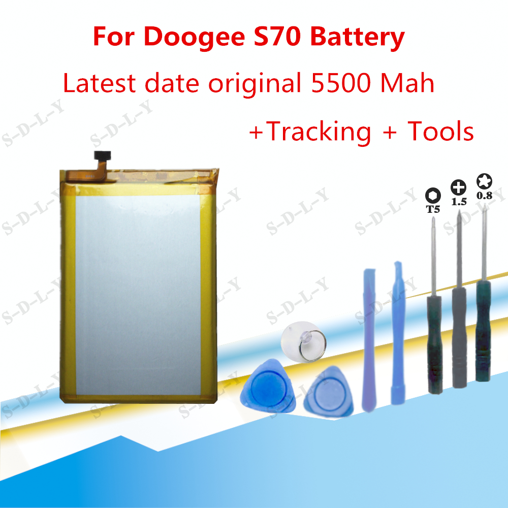 5500mAh For Doogee S70 Battery Replacement Batterij High Quality Batteria Backup For Doogee S70 Lite Cellphone Batterie+Tools