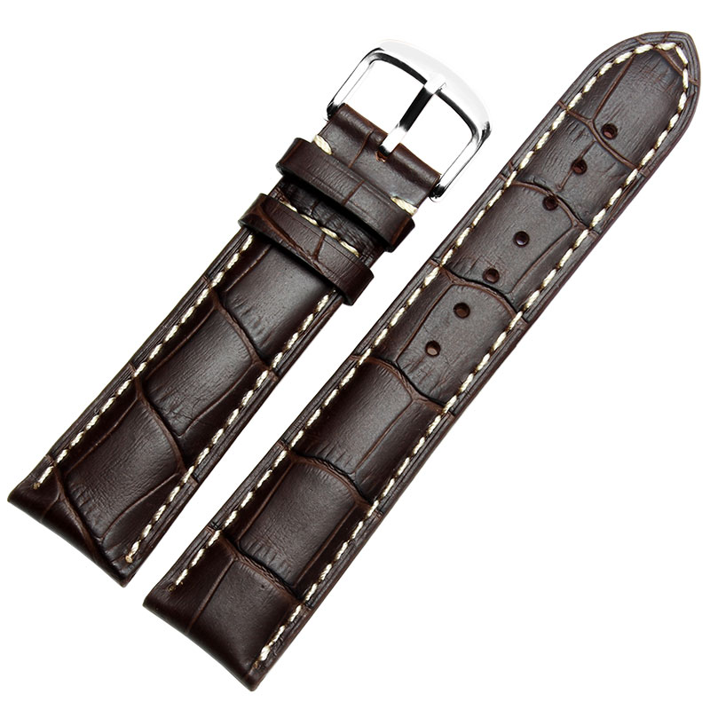 Carouse <font><b>Watchband</b></font> Soft Calf Genuine Leather Watch Strap 18mm <font><b>20mm</b></font> 22mm 24mm Watch Band for <font><b>Seiko</b></font> Accessories Wristband image