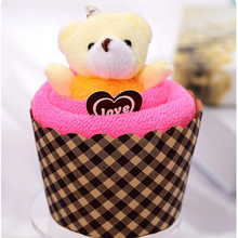 30x30 см 1 шт. полотенце s мини Медведь чашка торт пакет хлопок полотенце для рук s полотенце для мытья лица абсорбирующее быстросохнущее полотенце рождественские подарки