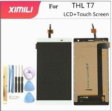 5.5 Polegada para thl t7 display lcd + montagem da tela de toque substituição para thl t 7 lcd digitador da tela toque ferramentas