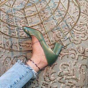 Image 5 - Green high sexy heels shoes zapatos de mujer ladies fashion shoes  pumps women shoes designer shoes women luxury