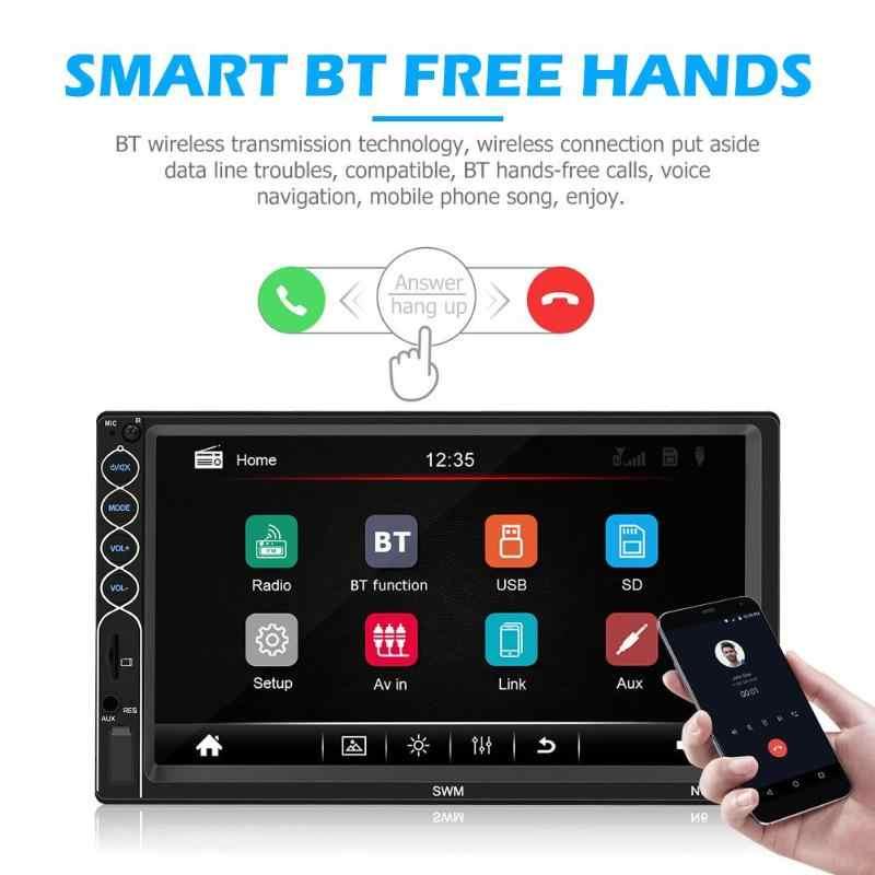 SWM N6 2 الدين سيارة مشغل وسائط متعددة 7 بوصة تعمل باللمس 2din ستيريو فيديو MP5 لاعب بلوتوث USB AUX راديو FM كاميرا سيارة لاعب