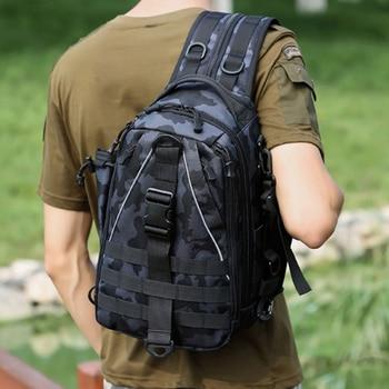 Deportes hombres senderismo táctico Mochila bolso para el pecho Militar pesca hombro Sling escalada Mochila de acampada Militar 2019 nuevo XA209D