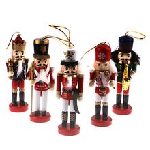 Dziadek do orzechów ozdoby lalek dekoracja stołu kreskówki orzechy włoskie żołnierze zespół lalki dziadek do orzechów miniatury 13 12 10 5cm tanie tanio GCDHome CN (pochodzenie)