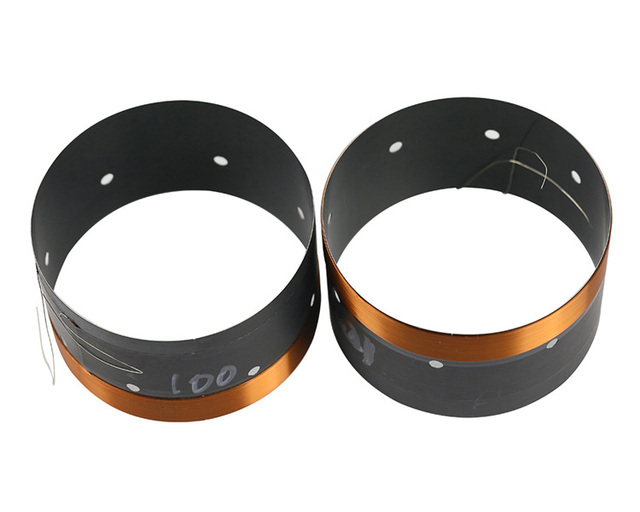 100mm סליל קול בס וופר תיקון חלקי 8ohm 102mm סליל קול שחור אלומיניום גבוהה כוח עבור 15  18 אינץ סאב רמקול 2PCS