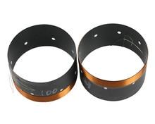 100mm baixo bobina de voz woofer peças de reparo 8ohm 102mm bobina de voz preto alumínio alta potência para 15 18 polegada subwoofer alto falante 2 pcs