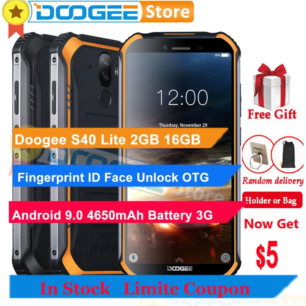 "Doogee S40 Lite 2GB 16GB Handy 5,5 ""Fingerprint ID Gesicht Entsperren 4650mAh Android 9.0 OTG Smartphone 3G WCDMA 8MP Kamera"