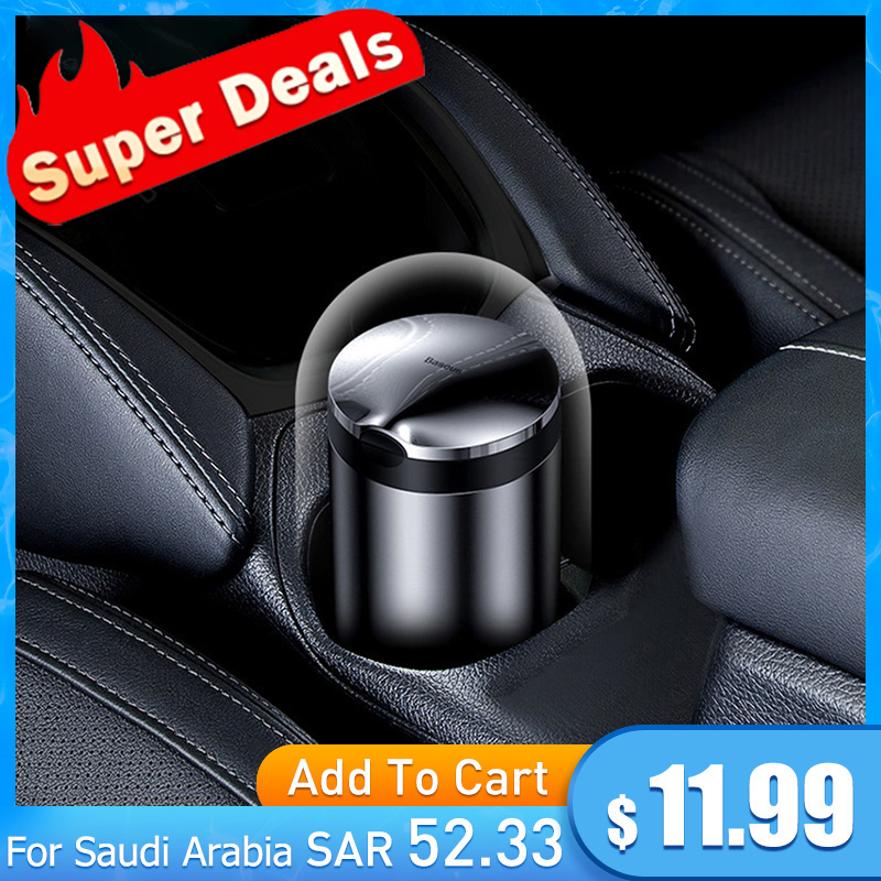 Baseus Car Ashtray Portable LED Light Cigarette Smoke Ashes Holder for Car Flame Retardant High Quality Ash tray Car Accessories