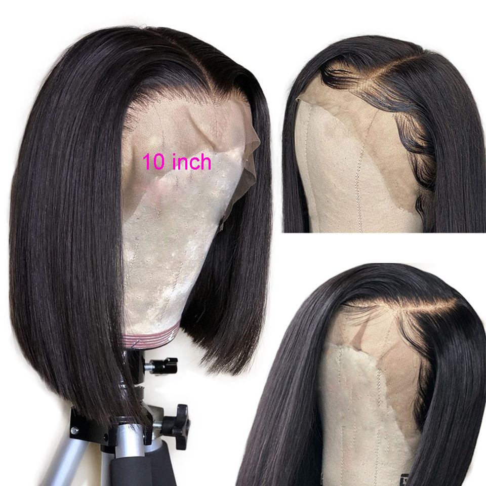 Ably-13x4-Lace-Front-Human-Hair-Wigs-Brazilian-Straight-Short-Bob-Wig-Pre-Plucked-With-Baby