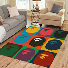 Monkey Hypebeast Bape Bedroom Home Carprtrugforlivingroombedroomdecorationhomenon-Sliprugsfloormatdropshipping