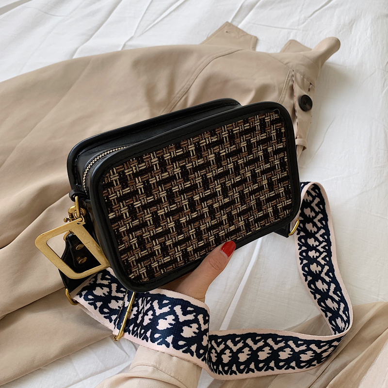 Small Bag Woman Tide Heavy Woolen Cloth Broadband Bag Single Shoulder Messenger Small Square Package Tide Luis Vuiton Gg Bag