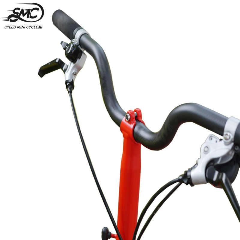 Brompton Karbon Stang M Sepeda 150g Smc Kecepatan Mini Siklus Ringan Sepeda Lipat 560 600 Mm 22 2 Karbon 25 4 Mm Bent Bar Batang Kemudi Sepeda Aliexpress