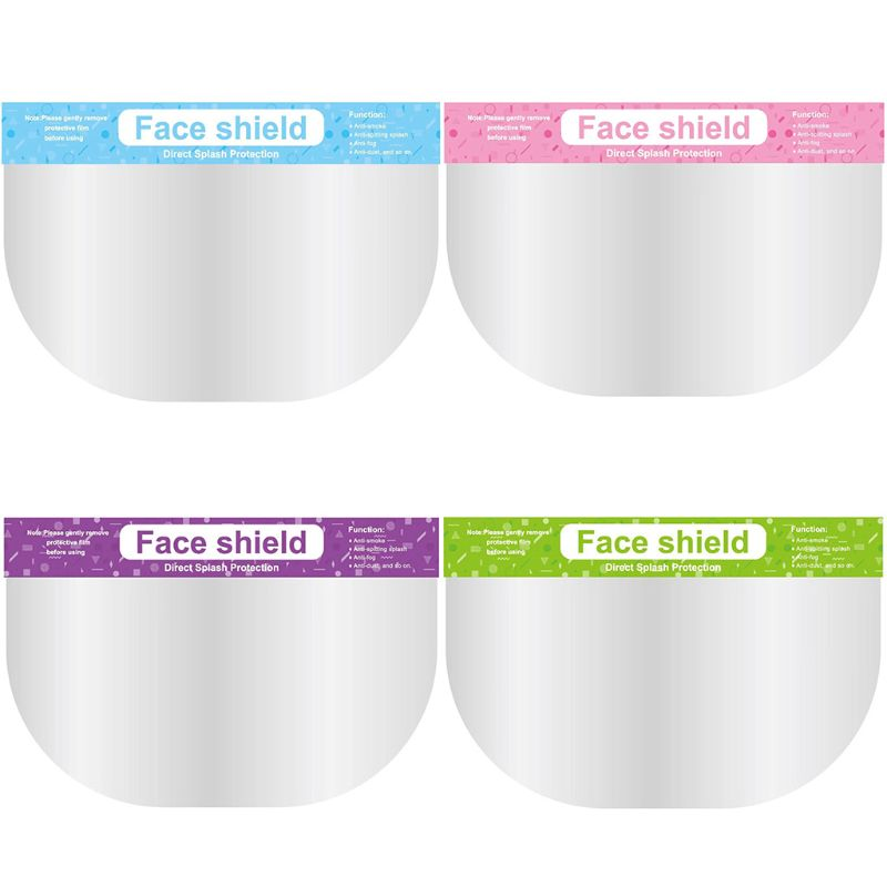 5 Pcs Anti-saliva Child Transparent Protective Mask Adjustable Dust-proof Full Face Cover Mask Visor Shield